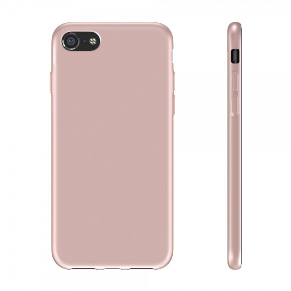 BeHello Premium iPhone SE (2020) / 8 / 7 Liquid Silicone Case Pink