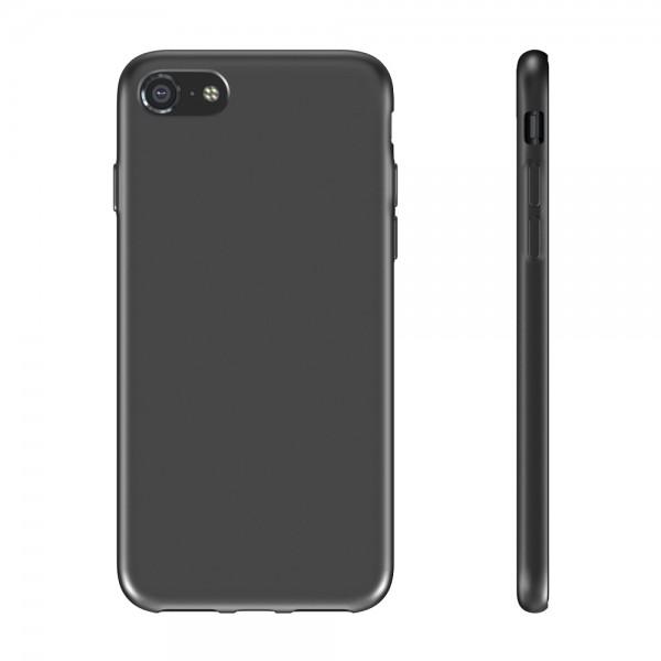 BeHello iPhone SE (2020) / 8 / 7 / 6s Liquid Silicone Case Black