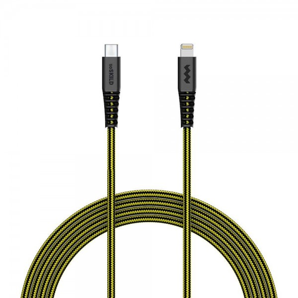 SoSkild Charging Cable Ultimate USB-C to Lightning 1.5m Black/Yellow