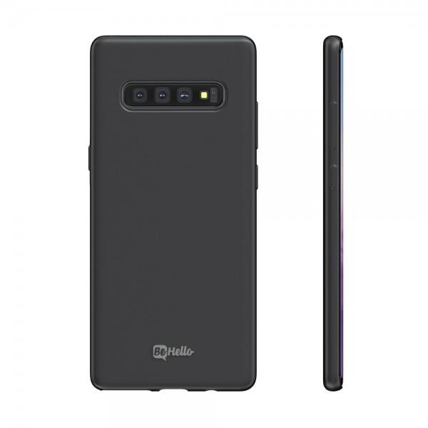 BeHello Premium Samsung Galaxy S10 Liquid Silicone Case Black