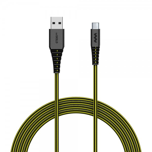 SoSkild Charging Cable Ultimate USB-A to USB-C 1.5m Black/Yellow