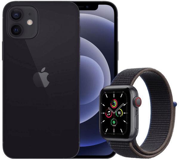 Apple iPhone 12 + Apple Watch SE LTE 44mm