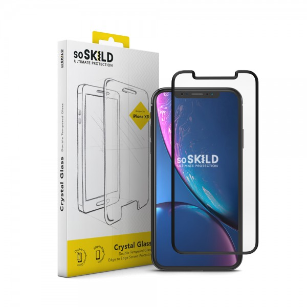 SoSkild iPhone 11 / Xr Double Tempered Glass Screen Protector