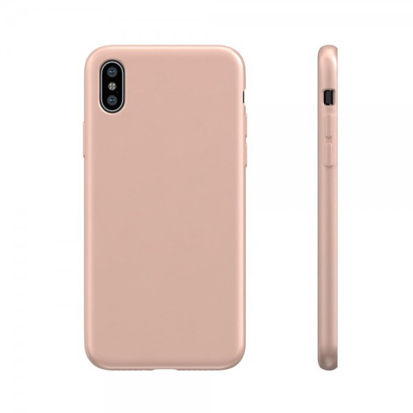 BeHello Premium iPhone Xs / X Liquid Silicone Case Pink